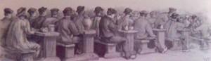 Le réfectoire des condamnés à Saint-Martin-de-Ré