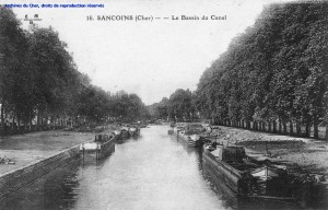 Sancoins - Le Bassin du Canal (source : AD 18)