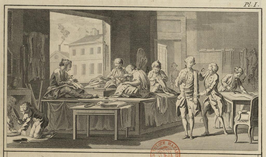 Tailleur d'Habits - Planche I - Encyclopédie